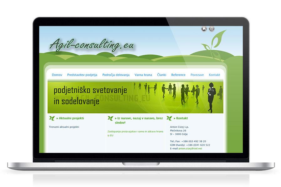 Spletna stran Agil-consulting