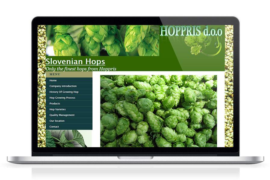 Spletna stran Hoppris d.o.o.